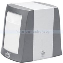 Serviettenspender Tork Fastfold Tischspender grau/weiß