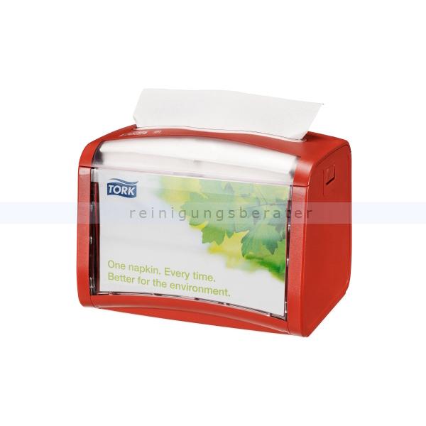 Serviettenspender Tork Xpressnap Tischspender, rot