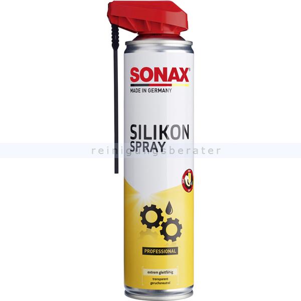 Silikonspray SONAX SilikonSpray 400 ml langanhaltender Schutz für Gummi, Kunststoff, Holz, Metall