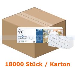 Spenderservietten Papernet 1/2 Falz 1-lagig, 18000 Stück