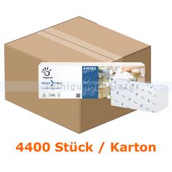 Spenderservietten Papernet 1/4 Falz 2-lagig, 4400 Stück