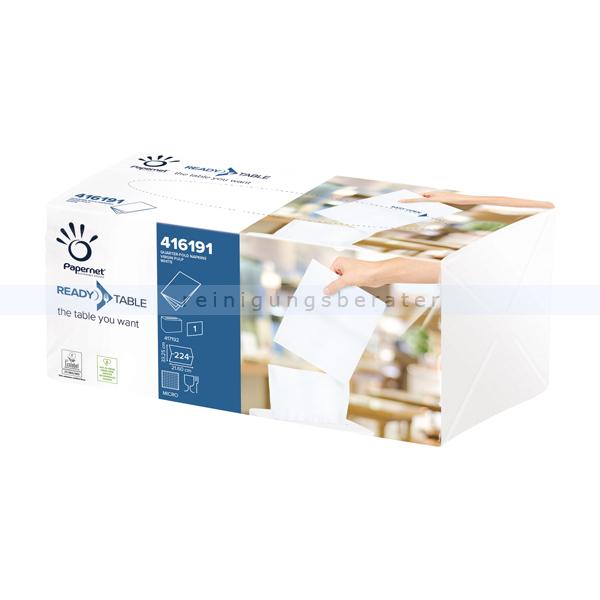 Spenderservietten Papernet 1/4 INTERFOLD 1-lagig, 224 Stück