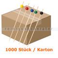 Spieße NatureStar BIO Bambus mit Kugel bunt 1000 Stück