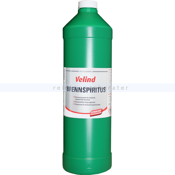 Spiritus, Brennspiritus Velind 1 L auf Basis hochwertigem Bioalkohol 60033
