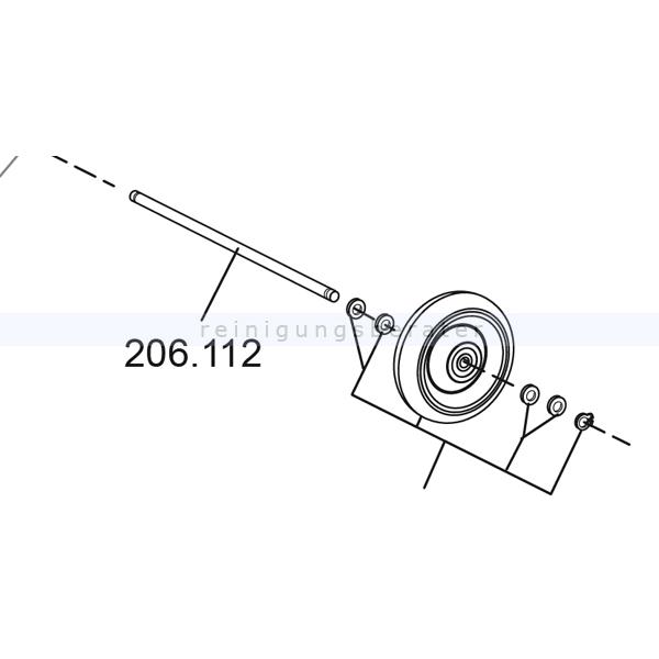 Sprintus Achse für Rad