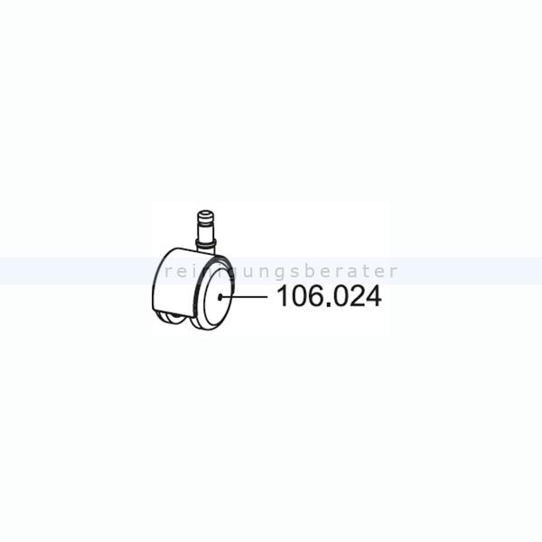 Sprintus Ersatz-Lenkrolle, einzeln, D=50 mm
