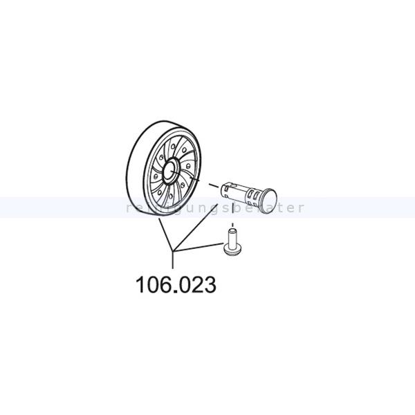 Sprintus Ersatz-Rad einzeln komplett gummiert