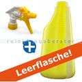 Sprühflasche gelb 600 ml inkl. Sprühköpf weiss/gelb