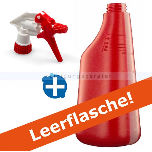 Sprühflasche rot 600 ml inkl. Sprühköpf weiss/rot