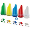 Sprühflaschen 600 ml im 4 Farben System inkl. Sprühköpfen