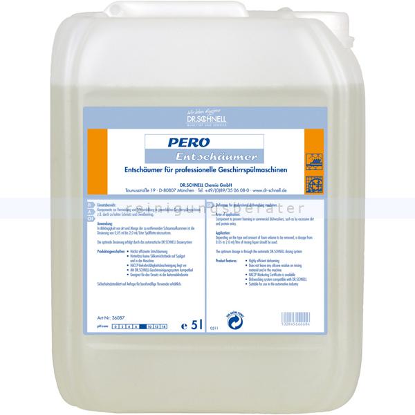 Dr. Schnell PERO Entschäumer 5L Spülmaschinen Antischaum Zur manuellen und maschinellen Dosierung 36087