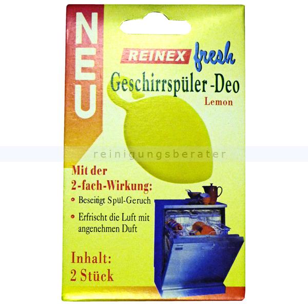 Spülmaschinen Deo Reinex fresh 2er Pack mit 2-fach Wirkung! Duft: Zitrone oder Orange 1284