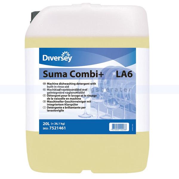 Spülmaschinenreiniger Diversey Suma Combi Plus LA6 20 L flüssiger Geschirrreiniger mit integriertem Klarspüler 101101255