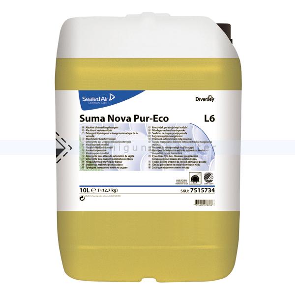 Spülmaschinenreiniger Diversey Suma Nova Pur-Eco L6 10 L Geschirrreiniger für mittelhartes und hartes Wasser 7515734