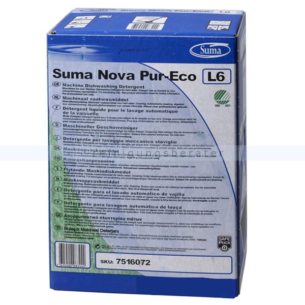 Spülmaschinenreiniger Diversey Suma Nova Pur-Eco L6 10 L Chlorfreier maschineller Geschirrreiniger 7516072