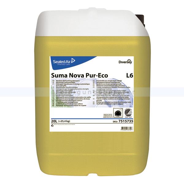 Spülmaschinenreiniger Diversey Suma Nova Pur-Eco L6 20 L Geschirrreiniger für mittelhartes und hartes Wasser 7515735
