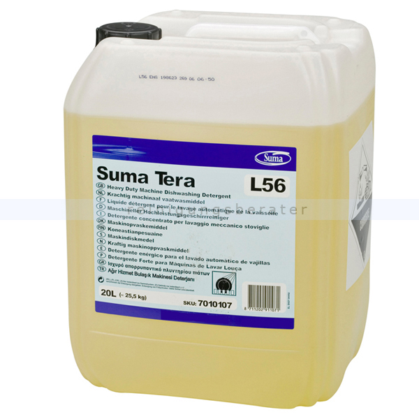 Spülmaschinenreiniger Diversey Suma Tera L56 10 L hochkonzentriert, für mittelhartes und hartes Wasser 101101042