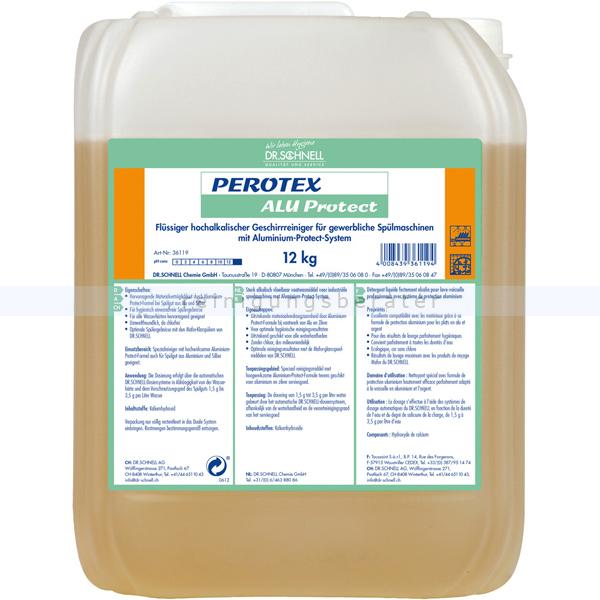 Dr. Schnell PEROTEX ALU PROTECT 12 kg Spülmaschinenreiniger flüssiger hochalkalischer Geschirreiniger, chlorfrei 36119