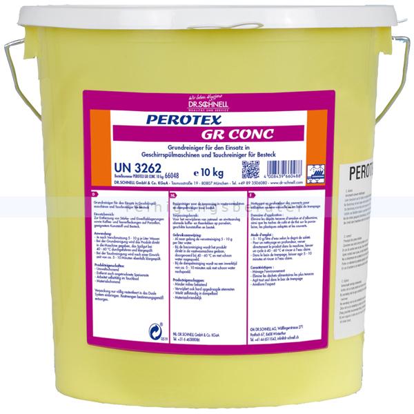 Dr. Schnell Perotex GR Conc. 10 kg Spülmaschinenreiniger chlorfreier Spülmaschinen Grundreiniger, Tauchreiniger 66048