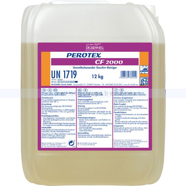 Dr. Schnell PEROTEX CF2000 12kg Spülmaschinenreiniger Entfernt hartnäckigste Verschmutzungen 36005