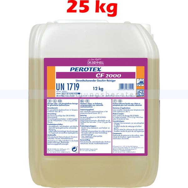 Dr. Schnell PEROTEX CF2000 25 kg Spülmaschinenreiniger Entfernt hartnäckigste Verschmutzungen 36031