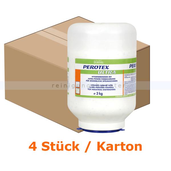 Dr. Schnell PEROTEX ULTRA 4x3kg Spülmaschinenreiniger Einsatz in Mehrtankspülmaschinen, 4 Stück pro Karton 00363