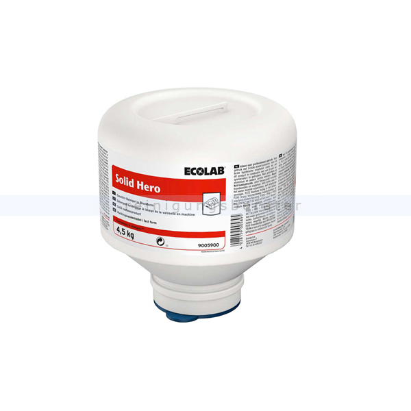Ecolab Solid Hero 4,5 kg Kartusche Spülmaschinenreiniger Geschirrreiniger in Blockform mit Aktivchlor 9005900