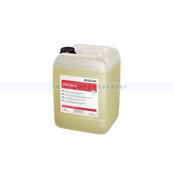 Ecolab Star Glass Gläserspülmittel 6 L Spülmaschinenreiniger für Gläserspülmaschinen bei niedriger Wasserhärte 9005650