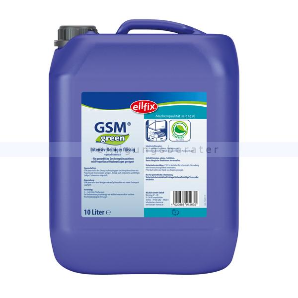 Becker Chemie Intensivreiniger Eilfix GSM green Spülmaschinenreiniger 10 L Intensivreiniger für Spülmaschinen 101072-010-000