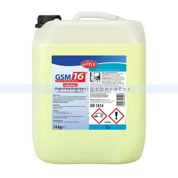 Spülmaschinenreiniger GSM 16 Becker Chemie 14 kg Flüssigreiniger, chlorfrei 100178-014-000