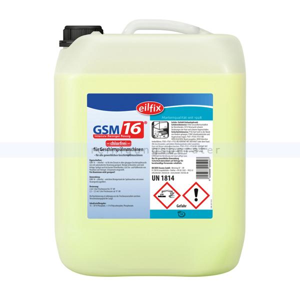 Spülmaschinenreiniger GSM 16 Becker Chemie 25 kg Flüssigreiniger mit Chlor 100177-025-000