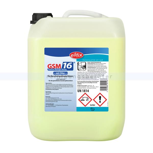 Spülmaschinenreiniger GSM 16 Becker Chemie 25 kg Flüssigreiniger, chlorfrei 100178-025-000