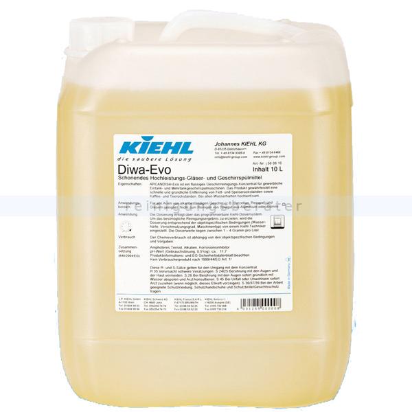Spülmaschinenreiniger Kiehl DIWA Evo 20 L Gläser- und Geschirrspülmittel für alle Wasserhärten j567221