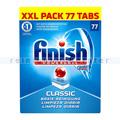 Spülmaschinentabs finish Classic Tabs 77 Stück XXL Pack