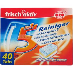 Spülmaschinentabs Oro frisch-aktiv 5 in 1 40x20 g