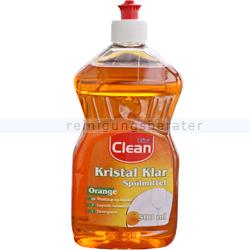 Spülmittel Clean Kristall Klar mit Orangenduft 500 ml
