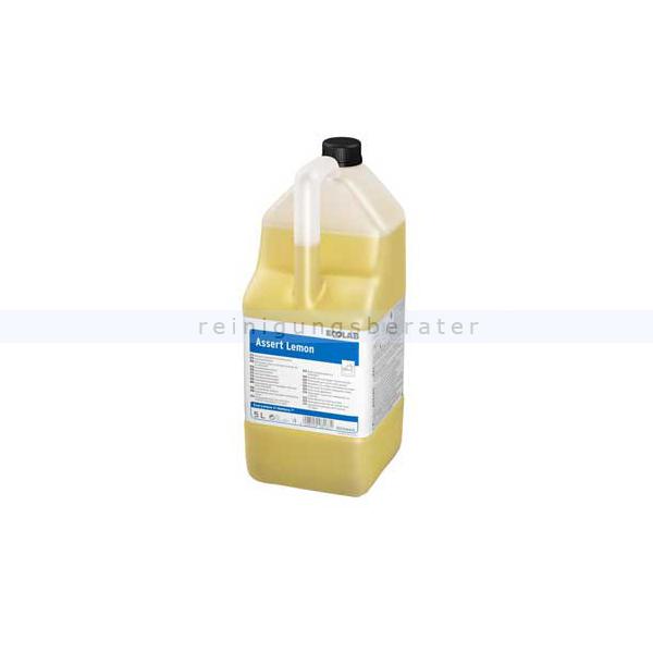 Ecolab Assert Lemon 5 L mit Zitronenduft Spülmittel universelles Handspülmittel, mit frischem Zitrusduft