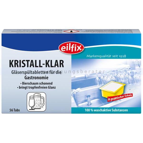 Becker Chemie Spülmittel Eilfix Gläserspültabs Kristall Klar Glasreiniger, speziell für Biergläser 56x10 g/Pack 100201-056-000