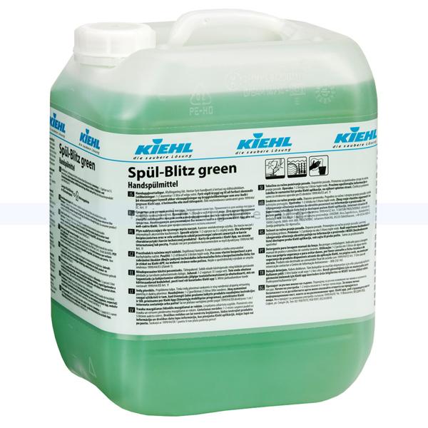 Kiehl Spül-Blitz green mit Glanztrockner 10 L Spülmittel Geschirrreiniger mit Glanztrockner j555910