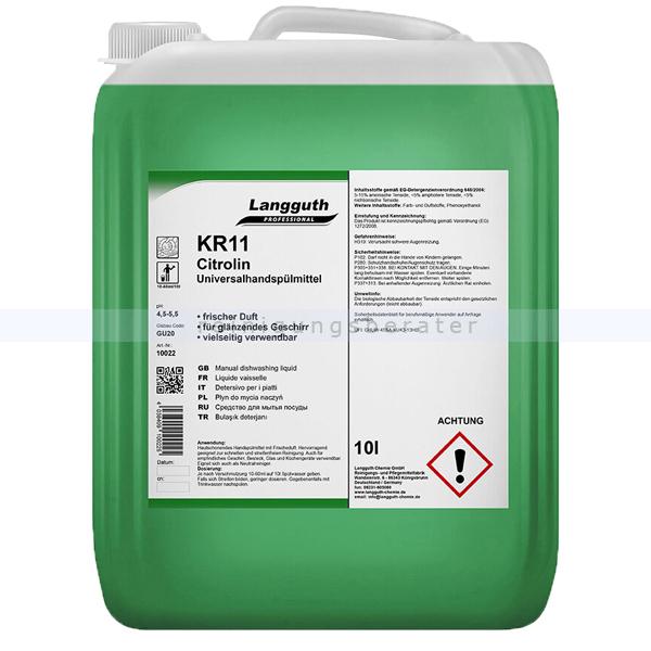 Spülmittel Konzentrat Langguth KR11 Citrolin 10 L Handspülmittelkonzentrat 10022
