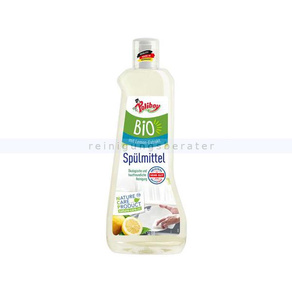 Spülmittel Poliboy BIO Geschirrspülmittel vegan lemon 500 ml ökologisches und hautfreundliches Spüli, natürliche Stoffe 0650001