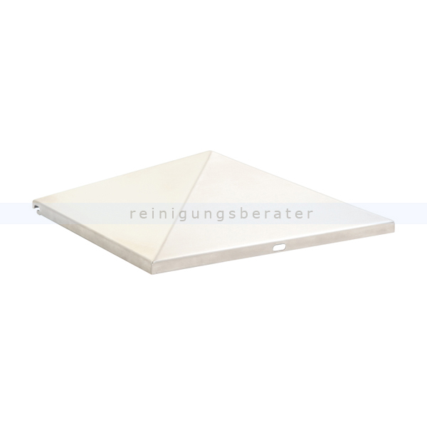 ReinigungsBerater Standascher Ascher-Papierkorb-Spitze (geschlossen) Edelstahl pyramidenförmige Spitze für den Ascher Papierkorb 31708642