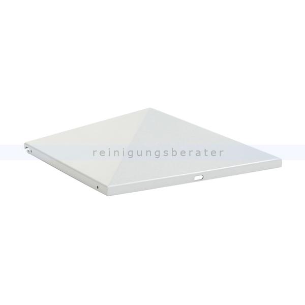 ReinigungsBerater Standascher Ascher-Papierkorb-Spitze (geschlossen) Silber pyramidenförmige Spitze für den Ascher Papierkorb 31708673