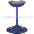 Standascher Metall, für Sandbefüllung blau