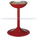 Standascher Metall, für Sandbefüllung rot