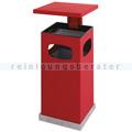 Standascher mit Schutzdach rot 70 L