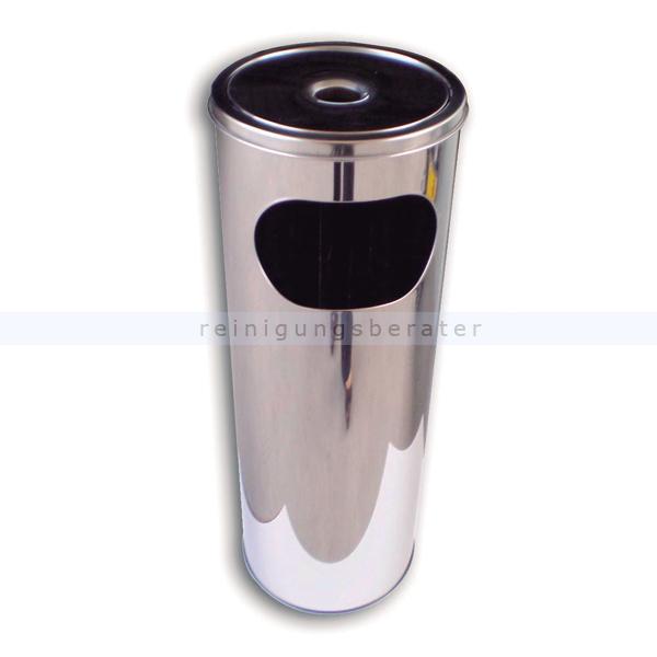 Standascher Simex Edelstahl mit Müllbehälter 12 L