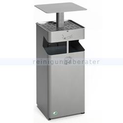 Standascher VAR B 35 Ascher/Abfallsammler silber 38 L