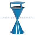 Standascher VAR Kunststoff Kegelascher mit Dach blau