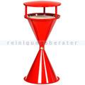 Standascher VAR Kunststoff Kegelascher mit Dach rot